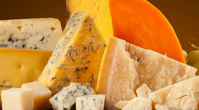 Selection of Cheese inlcuing Red Leicester and Parmesan