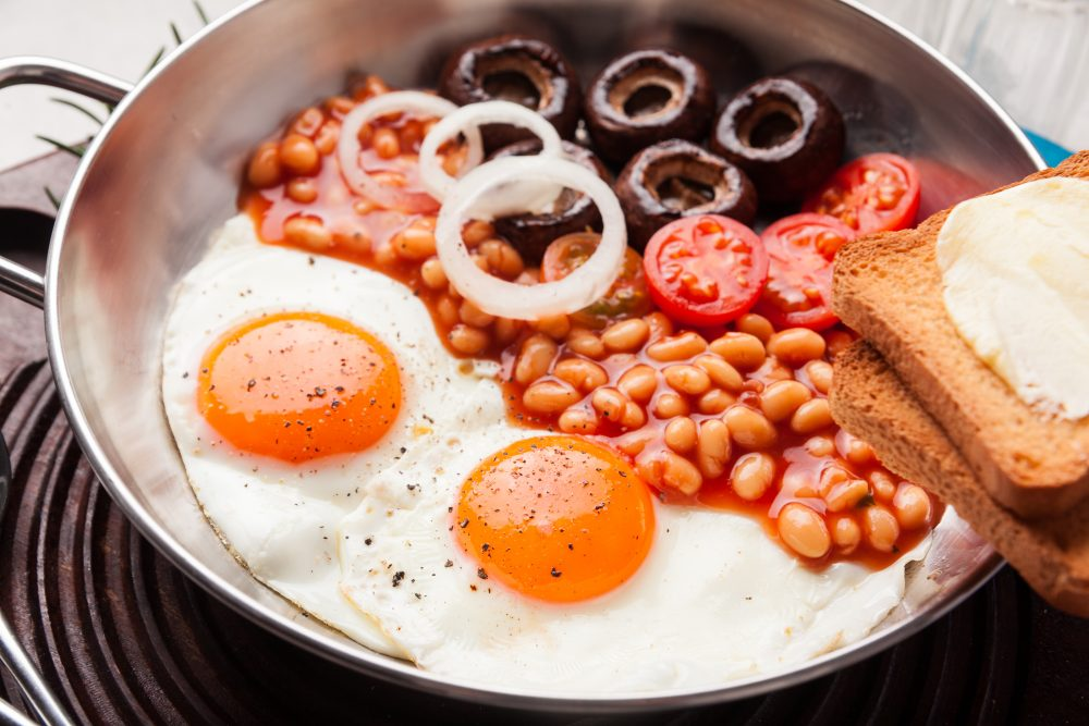 Vegetarian Full English for national vegetarian week