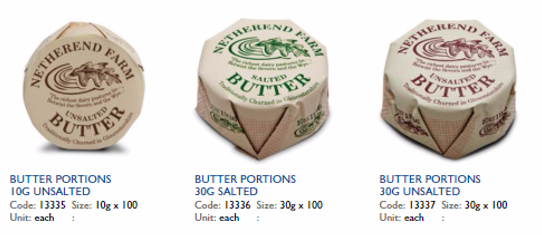 a range of butters, dairy and egg products available at Arthur David
