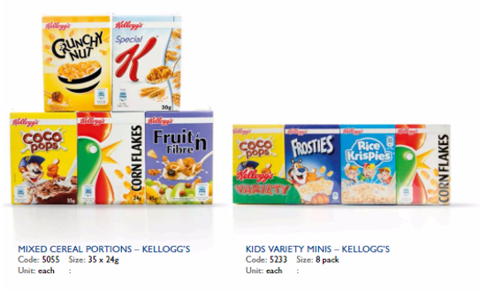 range of cereals available at Arthur David