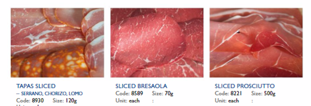 range of cured meats and smoked fish