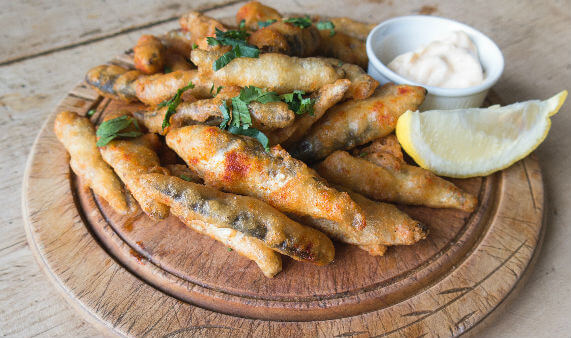 Whitebait recipe for small plates and tapas menus