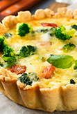 Purple Sprouting Broccoli in Tarts and Quiches - Arthur David
