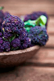 Purple Sprouting Broccoli in Bowl Ingredients Image - Arthur David